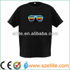 2014 new stylish design LED equalizer light t shirt