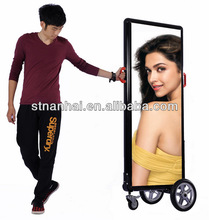 J2B-462 New media outdoor mobile LED double scrolling advertising billboard with high brightness