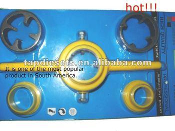 6PC PLASTIC NPT DIE SET PVC TOOLS PIPE THREAD CUTTING TOOL or TUBE THREAD TOOLS HAND TOOL
