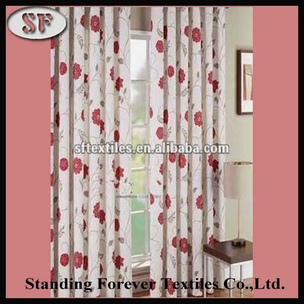 lovely flower pattern livingroom jacquard window curtain