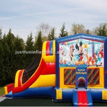 classic inflatable bouncy&slide combos for sale,cartoon inflatable combo bouncy and slide