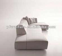 2012 leather sofa design PFS3852