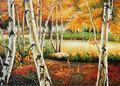 Arbre paysage peinture à l'huile en gros