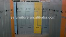Galvanizado de acero 6 compartimentos Z forma de la puerta del armario con maestro de bloqueo de código