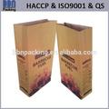 carbón vegetal bolsa de papel kraft