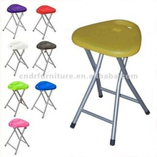portable triangle plastic seat folding stool folding chair