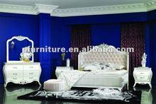 2012 Neoclassical wood carving bedroom furniture NC1206-bedroom