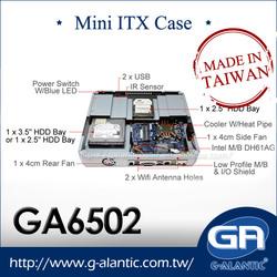 GA6502 HTPC Mini ITX Computer Case