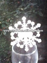 """Laser cut wedding decoration personalized """"snowflake-3"""" table place cards with fast shipment from YOYO crafts"""