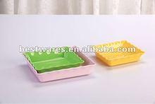 Sugar cane fiber melamine party plastic plate
