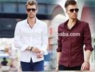 high quality cheap dri fit organic cotton model man shirt 2014