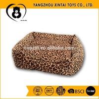 Wholesale leopard print plush pet beds, plush cat beds, plush dog beds