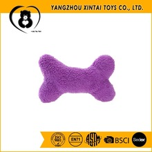 Bone-shaped squeaky plush pet toys for dogs
