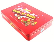 Full color printed canned food 150g dark chocolate cookies tin box