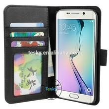 For Samsung Galaxy S6 Edge Case, Book Flip Cover Case For Galaxy S6 Edge, Factory Price