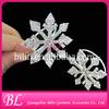 crystal rhinestone snowflake napkin rings for Christmas