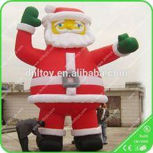 Customized Inflatable Christmas, inflatable christmas santa airplane