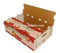 Caja de papel cartón / pallet para frutas y verduras