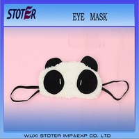 2014 Hot Sale Popular panda-like furry eye mask sleeping