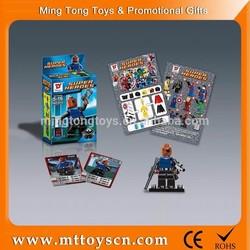 ABS plastic hot sales super hero square building block toys