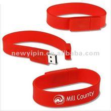 Silicone Wristband Bracelet USB 2.0 Memory Stick Flash Pen Drive 4GB 8GB 16GB 32GB U-Disk
