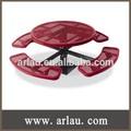 ( Tb-044 ) ronda de un solo Pedestal de acero mesa