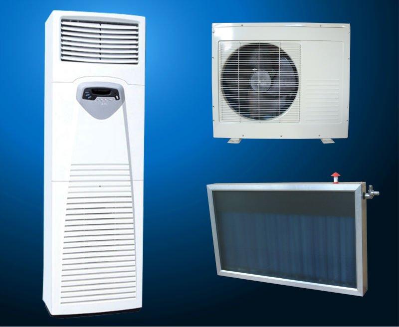 solar powered air conditioner, floor standing air conditioner,toshiba compressor hybrid solar air conditioner