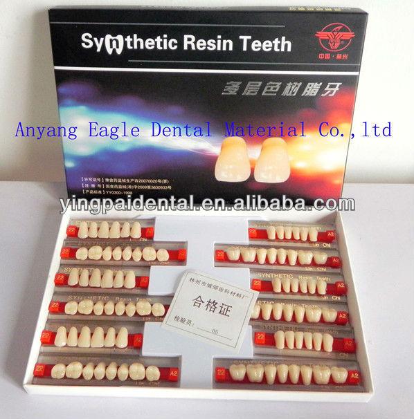 Super Hard 2 Layer Dental Acrylic Teeth with OEM service