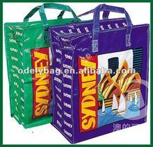 2012 pp woven reusable zipper shopping bag
