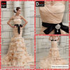 Surmount Professional Real Sample Sweetheart Champange Orangza Ruffle Mermaid Wedding dress 2013