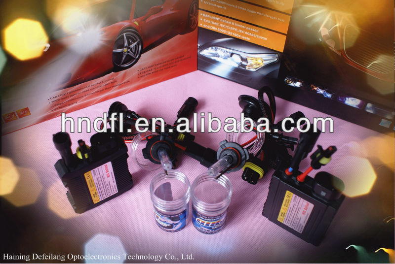 Newest 9004 Defeilang real factory wholesale price car headlight HID xenon kit 12v 24v 35w 55w 75w 100w 3000k~30000k
