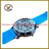 New Luxury Blue Dial Leisure Women Quartz Fashion Silicon Watch