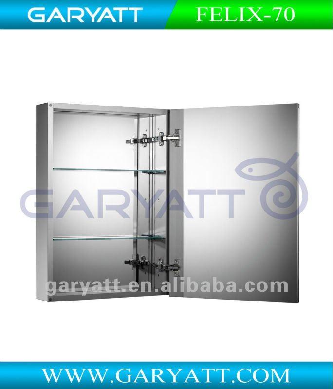 Buld-in Aluminum Mirror Bathroom Cabinet FELIX-70