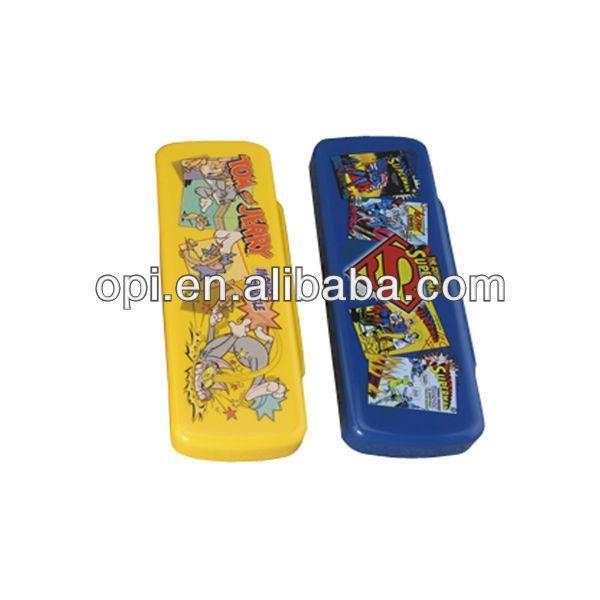 Promotional gift kids plastic pencil case