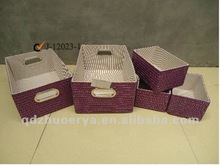 fashion 2015 Wheat straw baskets of pure color PP straw