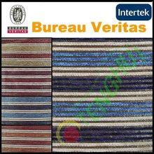 2012 latest chenille striped sofa fabric