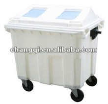 Outdoor waste bins with 660L, 900L,1100L,outdoor garbage bins with wheel