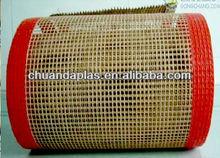 ANTISTATIC PTFE coated fiberglass brown conveying belt