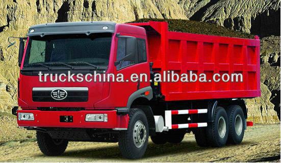 Faw 290hp / 336hp / 371hp 6 * 4 25ton 30ton 18CBM capacité FAW camion à benne