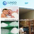 Fralda grau Super polímero absorvente PAAS polímero de sódio polyacrylate SAP
