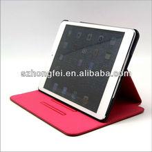 New design! auto wake/sleep luxury book style pu leather case for ipad mini