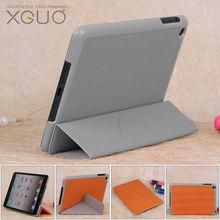 Wholsale 3 Foldable custom soft case for ipad mini / factory price for ipad mini slim case(xguo01)