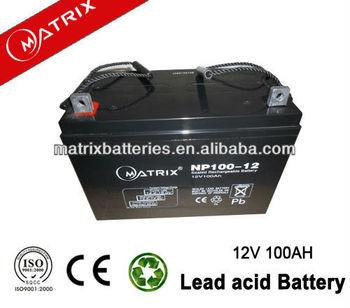 pakistan hot selling model 12v 100ah dry batteries for ups