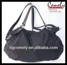 2015 bags Comely women handbags manufacturer big polyester black shopping bag lady handbag purses and handbags