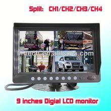 Digital Quad Function 9 inches digital mini camera lcd cctv