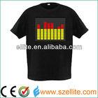 Excellent China manufactuer el sound sensor t-shirt