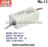 Meanwell 16W LED Driver Switching Power Constant Voltage 15v dc led driver LED Driver