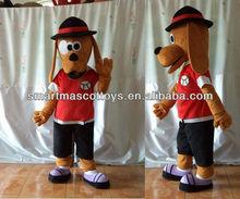 100% in kind shooting of long ears dog mascot costume long ears adult dog costume
