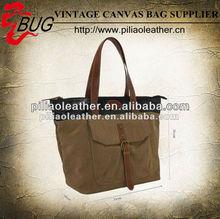 Water resistant women waxed canvas handbag wholesale