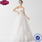 GoingWedding Real Sample Ball Gown Sweetheart Neck With Feather High-Low Gown Wedding Dress Tulle Bridal NW24063